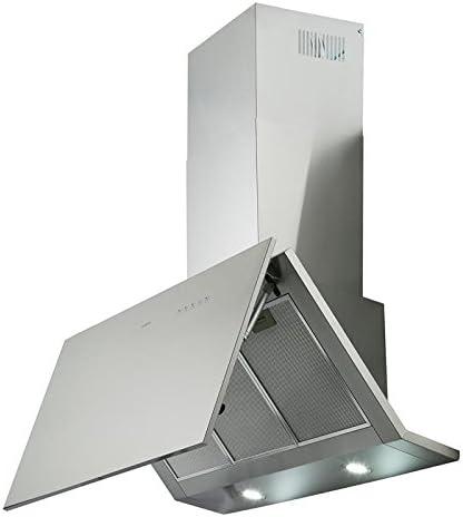 Klarstein Braveheart Campana extractora de pared - Iluminación LED, Extracción: 610 m³/h, 3 niveles, 3 x filtros grasa, Set de montaje, Eficiencia energética: A, Acero inoxidable, Metalizado: Amazon.es: Hogar
