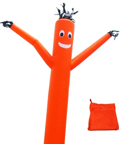 LookOurWay Air Dancer Tall Fly Guy Inflatable, Orange, 20-Feet - Air Dancer With Blower