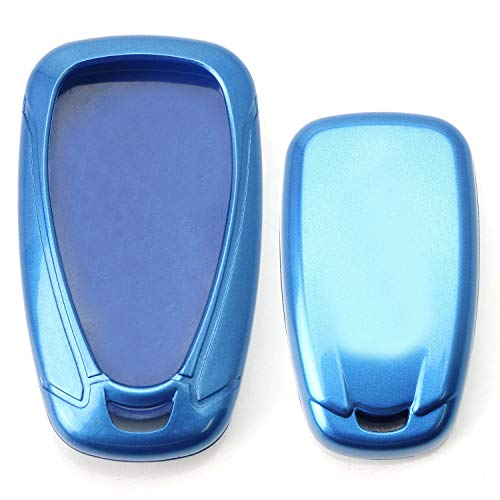 - iJDMTOY Glossy Metallic Blue Exact Fit Key Fob Shell Cover for 2016-up Chevrolet Camaro Cruze Spark Volt, 2017-up Malibu Bolt Sonic Trax, etc