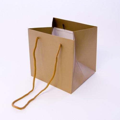 Kleine Blumen Porto Taschen für Handgebundene Bouquets 10 Farben 10er Packung - Klein, Silber Gold
