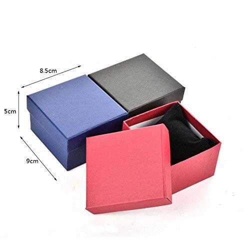 Nueva vacío caja de regalo Vintage negro franela presente temporada caja suave funda de acabado para