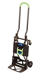 Cosco Shifter Multi-Position Heavy Duty Folding Hand Truck and Dolly, Green