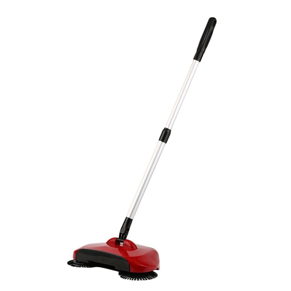 Homgrace Barredora manual, 3 en 1 barredora para limpieza para el hogar, 360 rotació n, longitud de mango ajustable (Rojo) 360 rotación 1672602