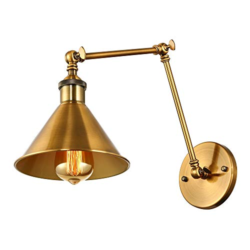 Adjustable Brass Finish 1 Light Wall Sconce