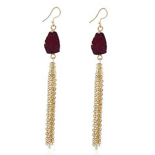 Rhame Fashion Long Chain Dangle Multi Chain Gold Plated Ear Stud Chic Party Earrings   Model ERRNGS - 20006  