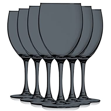 Black Colored Nuance Wine Glassware - 10 oz. set of 6- Additional Vibrant Colors Available by TableTop King