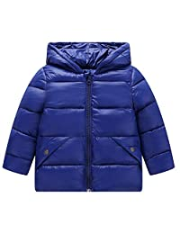Tenworld B Toddler Girl's Boys Lightweight Quilted Puffer Jacket Coat with Hooded 5t