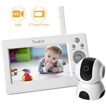 """Video Baby Monitor with Large 5"""" HD LCD Display 720P Digital Camera,Infrared Night Vision,Temperature Sound Monitoring, Two Way Audio, 5Lullabies,960ft Far Long Range"""