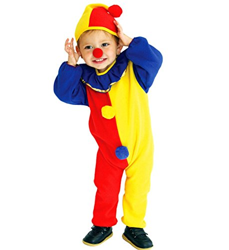 Kalanman Unisex Children & Toddlers Fancy Halloween Costumes Dress Up Theme Party Wear (M(Fit for 4-6 Age), Clown)