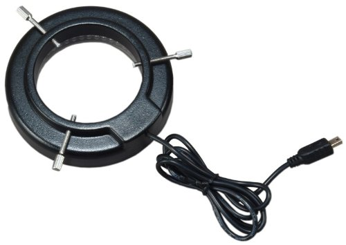 OMAX 144 Super Bright LED Ring Light with Light Control Box for Stereo Microscopes