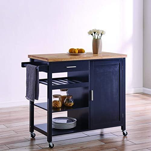 BELLEZE Multi Storage Cabinet Rolling Kitchen