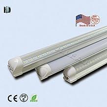 15PACK LED T8 Integrated tube 8ft 40W LED Bulb tube Lamp Milky cover with 6500K LED Light tubo SMD2835 chip high brightness T8 integrated tube lamp (WHITE)