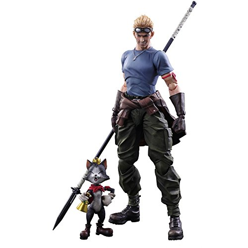 Square Enix Final Fantasy VII Remake Cid Highwind & Cait Sith Play Arts Kai Action Figure from Squarenix