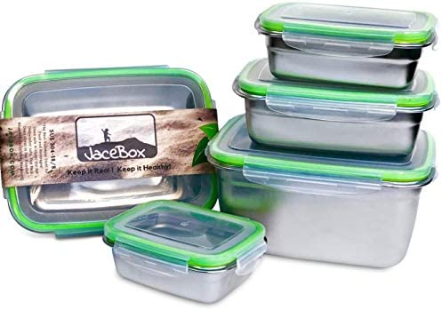 Amazon.com: Jacebox - Contenedores de acero inoxidable ...