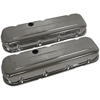 Big Block Chevy Stamped 396 Logo Chrome Steel Tall Valve Covers BBC 427 454 502