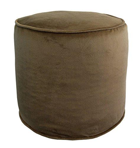Metje 0818OT Nutmeg Majestic Cylinder Pouf - Ottoman,Nutmeg,17