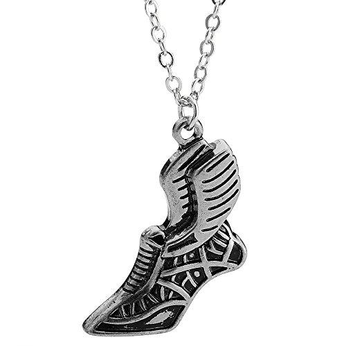 NOUMANDA Fashion Personalized Winged Shoes Pendant Necklace Charm Retro Jewelry (Antique Silver)