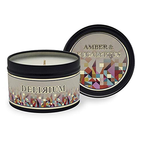 Delirium - Amber & Eucalyptus (Formerly Royal Amber) Travel Tin Candle by Delirium