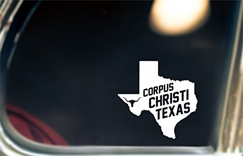 Corpus christi texas decal sticker for car window bumper or laptop