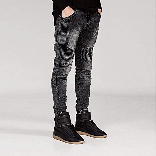 Stretch Biker Giovane Look Pants In Denim Lavato Destroyed Da Fit Slim Jeans Uomo Grau Skinny ZwXwtUSq