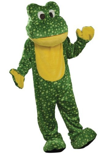 Forum Deluxe Plush Frog Mascot Costume, Green, One Size by Forum Novelties