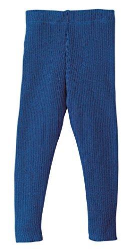 Disana 100% Organic Merino Wool Knitted Leggings Made in Germany (6-8 Years, Navy)