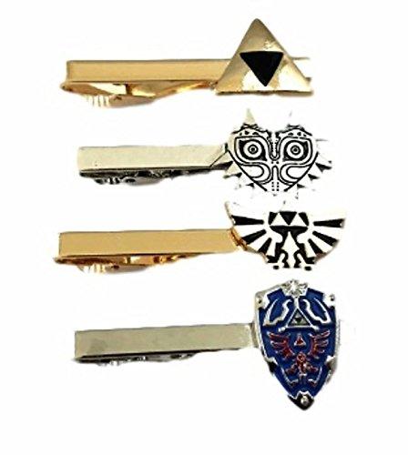 The Legend of Zelda Triforce Trilogy Metal Enamel Set of 4 TIE - Tie Clip Zelda