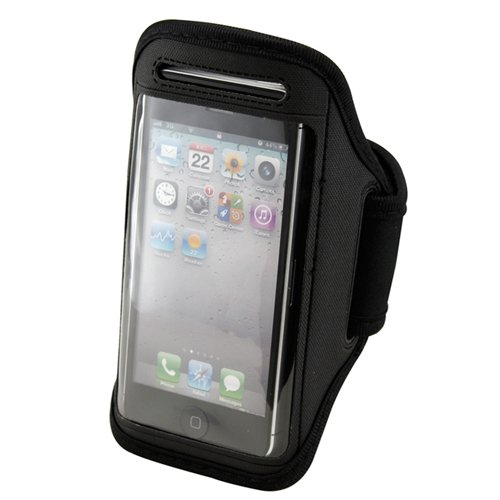 Gearonic AV-5146BPUIB Sport Arm band Gym Band Case Pouch for Apple iPhone 5 - Non-Retail Packaging - Black