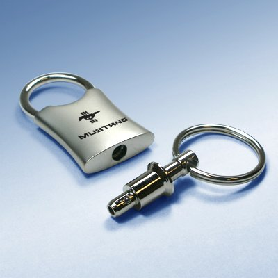 Ford Mustang Valet Metal Key Chain