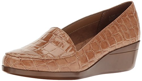 Aerosoles Women's True Match Slip-on Loafer, Tan Crocodile, 10 M US