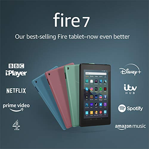 Fire 7 Tablet | 7″ display, 16 GB, Black – with Ads