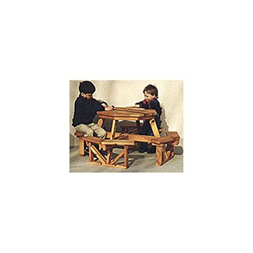 Woodworking Project Paper Plan to Build Child's Octagon Picnic Table