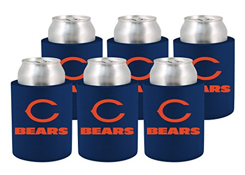 NFL Chicago Bears Phoozie Set, 6-Pack, Dark Blue/Orange ()