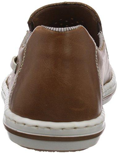 Rieker 19065 - Zapatillas de casa de cuero hombre marrón - Braun (zimt/toffee/champignon / 24)
