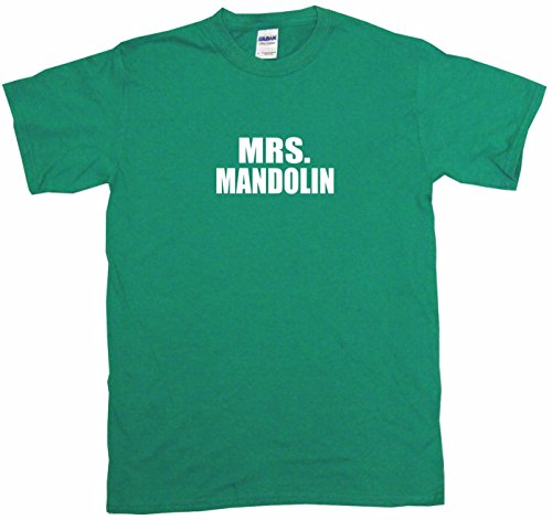 Mrs Mandolin Women's Regular Fit Tee Shirt XXXL-Kelly Green