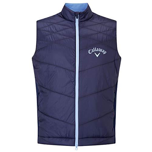 (Callaway Golf 2018 Mens Full Zip Chev Thermal Puffer Vest Gilet Peacoat XL )
