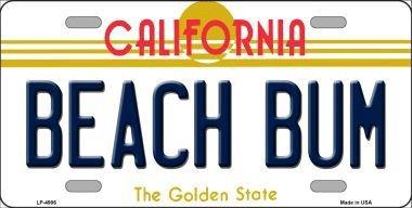 beach bum license plate frame - 4