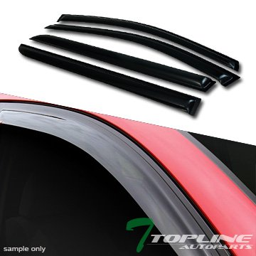 Topline Autopart Smoke Window Visors Deflector Vent Shade Guard 4 Pieces For 05-07 Honda Odyssey