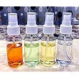 APSAMBR-Empty Plastic Transparent Refillable Fine Mist Spray Bottle (50ml, White) - Set of 4