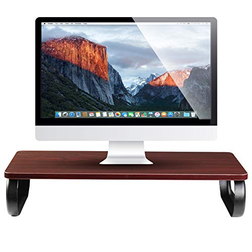 (Executive Monitor Stand Riser & Computer Desk Laptop Organizer - for Home, Desktop, Screen, TV, Tablet, iMac Office Storage Table)