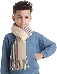Crndzsis Kids Girls Boys Warm Scarf Classic Soft Cashmere Feel Winter Scarf