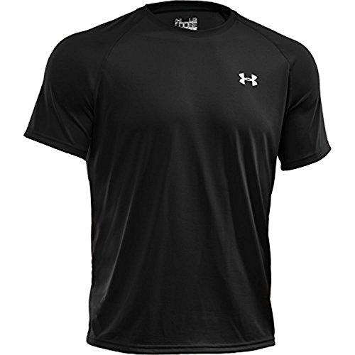 Under Armour Men's Tech S/S T-Shirt Steel / Black XS & HDO Workout Visor Bundle