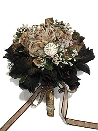 Steampunk Wedding Bridal Flower Rose Bouquet Gift Idea 10