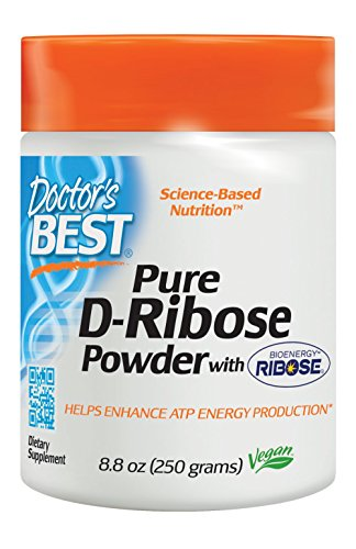 Doctor's Best D-Ribose with Bioenergy Ribose, Non-GMO, Vegan, Gluten Free, Energy Enhancement,  250 Grams by Doctor's Best