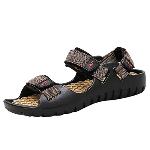 Seaintheson Men's Casual Sandals,Beach Summer Trekking Sandals Outdoor Travel Slippers Open Toe Non-Slip Shoes Khaki (Best Sites To Sell Nudes)