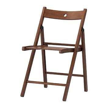 Ikea Terje - Silla Plegable, marrón: Amazon.es: Hogar