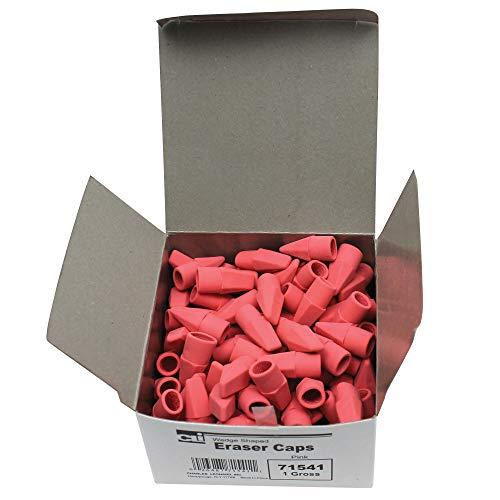 - Charles Leonard CHL71541BN Eraser Caps, Pink, 144 Per Box, 6 Boxes