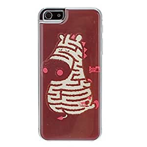 HP DF sold out Labyrinth Zebra Pattern Epoxy Hard Case for iPhone 5/5S