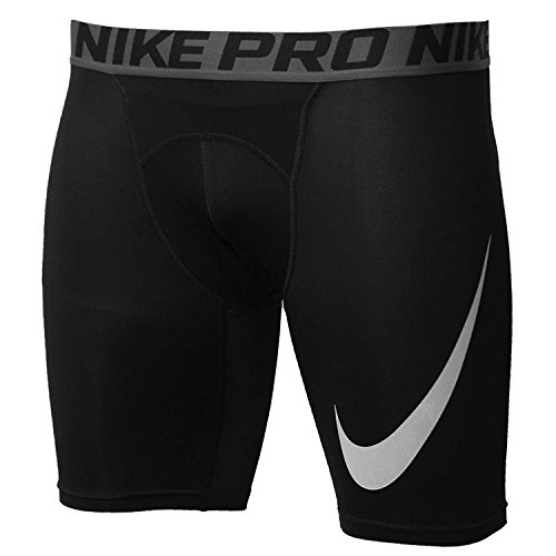 Nike Men's 6'' Pro Cool Swoosh Graphic Compression Shorts (Black, XL)