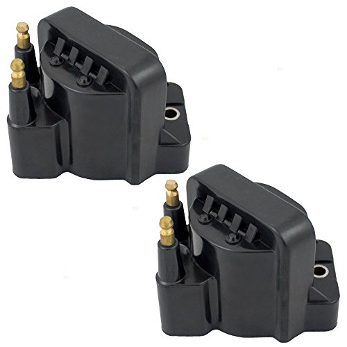 2 Piece Set Ignition Spark Plug Coil Pack Modules Replacement for Chevrolet Oldsmobile Isuzu Pickup Truck 4-cylinder 10497771 AutoAndArt